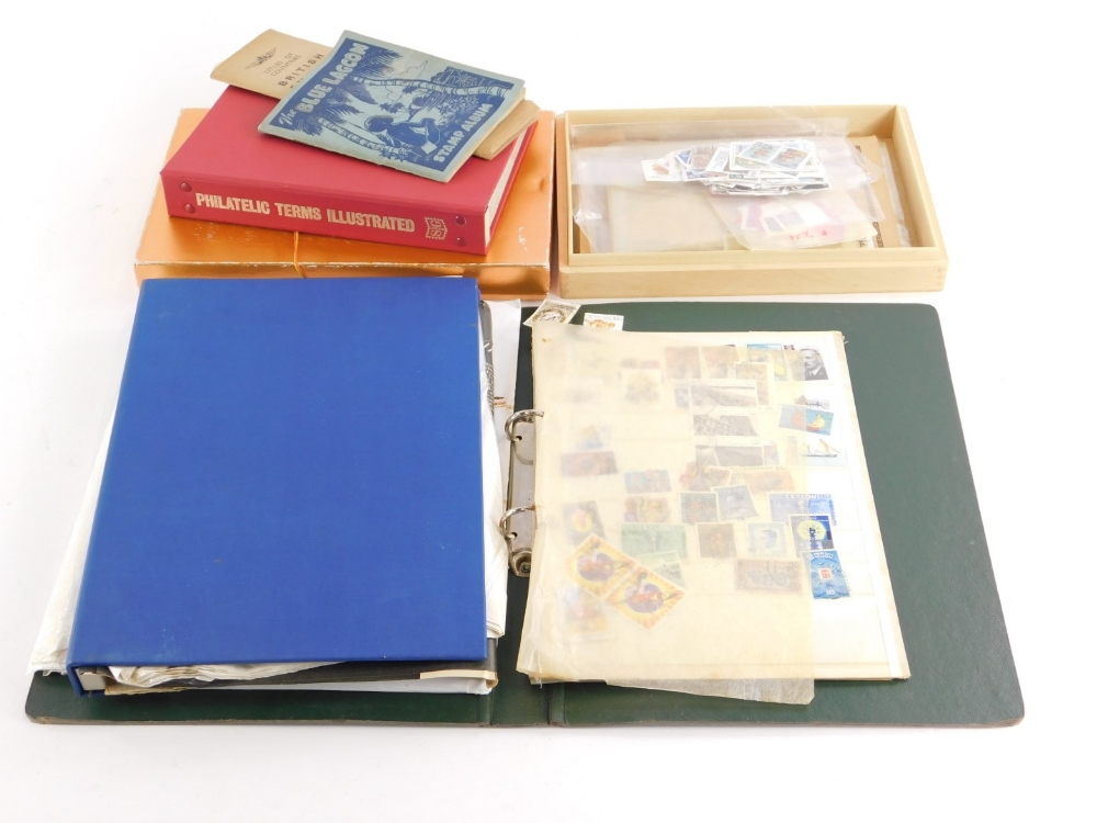 A quantity of stamps, book on stamps, loose stamps, etc.