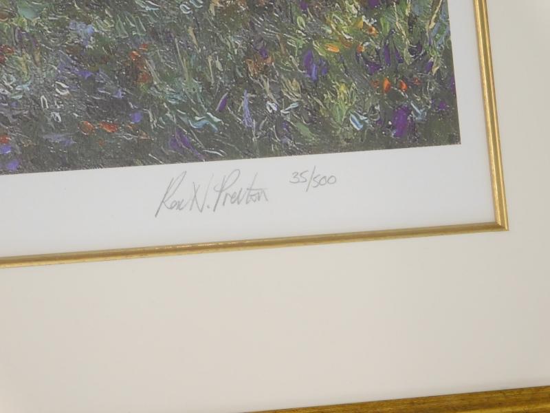 After Rex N. Preston. River landscape, artist signed limited edition print, number 35/500. - Image 2 of 2