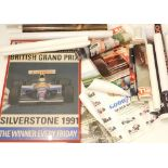 A quantity of posters, to include The British Grand Prix 1991, poster for Ford Motoring, Iron