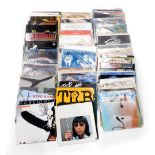 A quantity of LP records, to include Led Zeppelin, Ratt, Rod Stewart, Super Tramp, Moody Blues, Eric