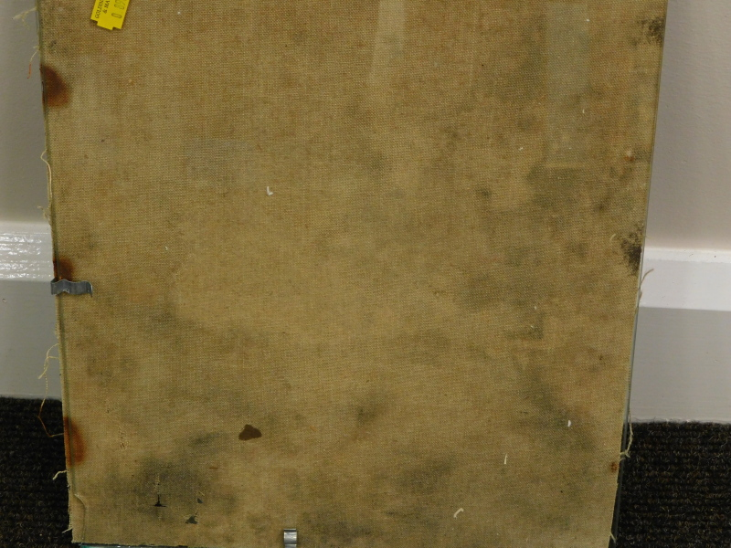 19thC/20thC School. The painter, oil on canvas, 35.5cm x 28cm. - Image 3 of 3