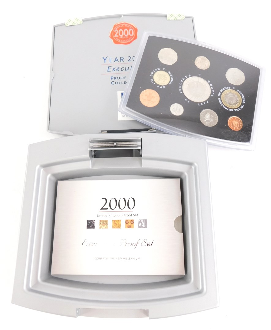 A Royal Mint 2000 proof collection Executive set of coins, in plastic outer case with