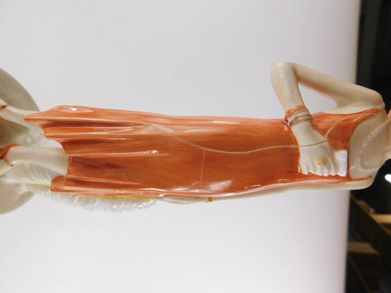 A collection of porcelain figures, mainly in the Art Deco style, to include a Goebel figure. (AF) - Image 4 of 4