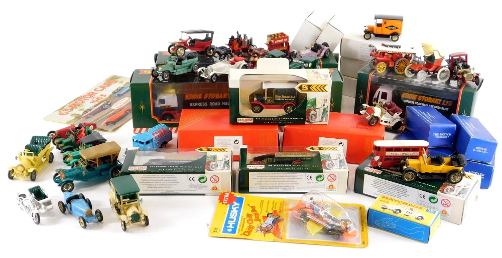 A quantity of die cast vehicles, to include Eddie Stobart, Corgi Royal Mail collection and Fina