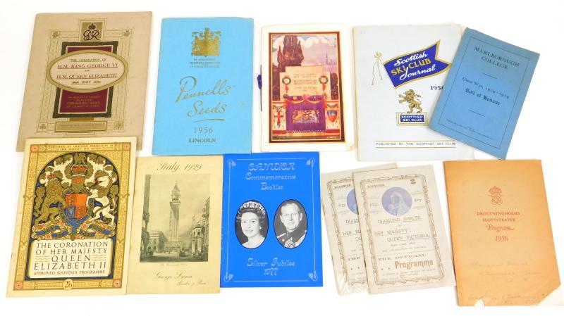 Royal memorabilia, c.10, civic and souvenir programmes, QV, QETT, (a quantity).