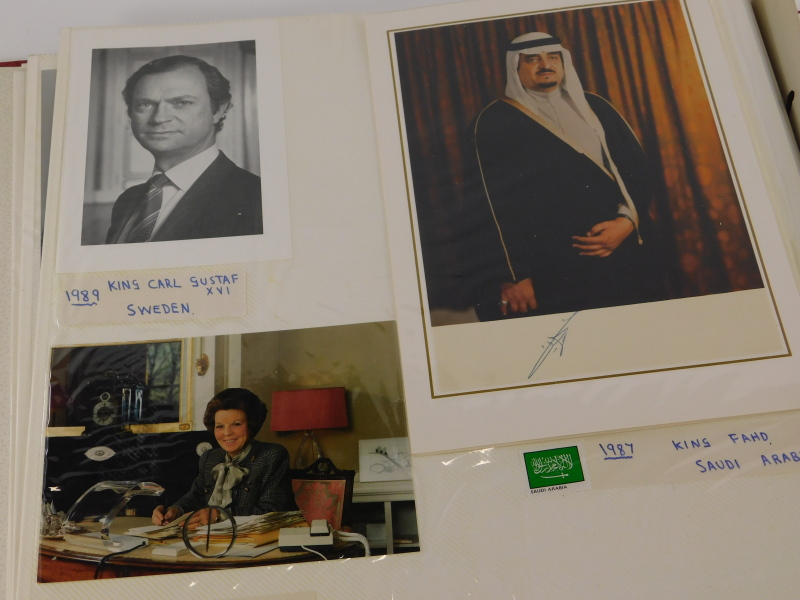 An album containing political photographs, to include some bearing the signatures of Margaret - Image 7 of 7
