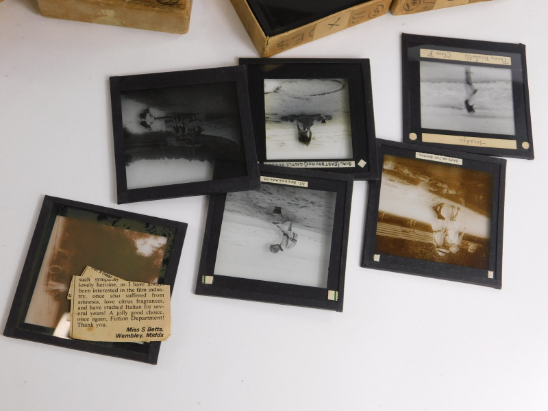 A quantity of Victorian and later magic lantern slides, to include portraits, early 20thC of Sussex, - Image 2 of 3