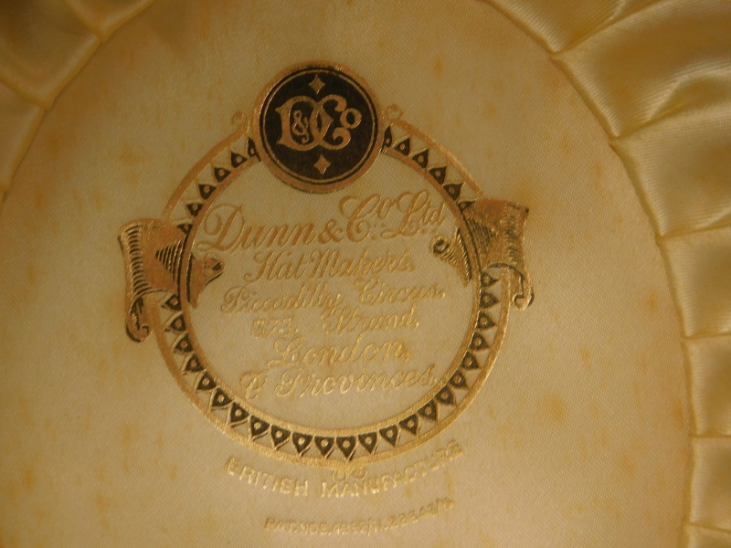 A Dunn and Co bowler hat, label to inside, numbered 400, 758. - Image 2 of 2