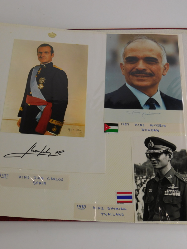 An album containing political photographs, to include some bearing the signatures of Margaret - Image 6 of 7