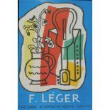 After Mourlot F. Ledger. Print, 22cm x 14cm, various others, Picasso, other Fernand Ledger, etc. (