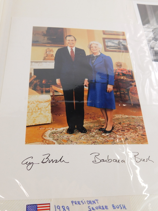 An album containing political photographs, to include some bearing the signatures of Margaret - Image 4 of 7