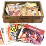 A quantity of LP records, musicals to include South Pacific, The King and I and Carousel, 78RPM