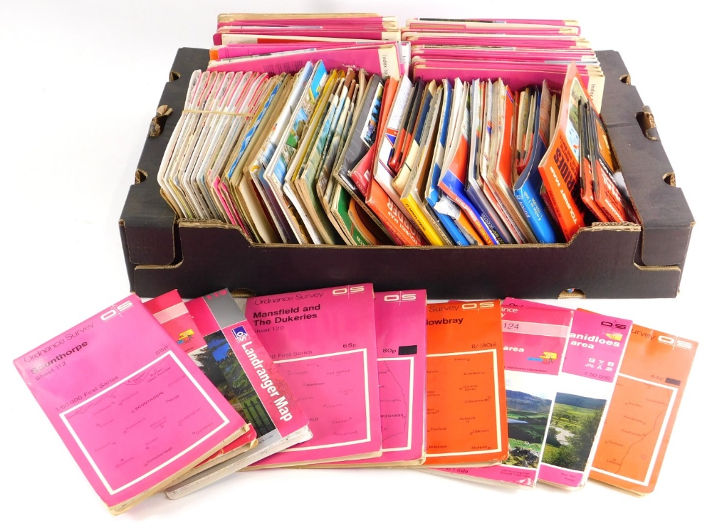 A large quantity of Ordnance Survey maps, various areas mainly north of England.