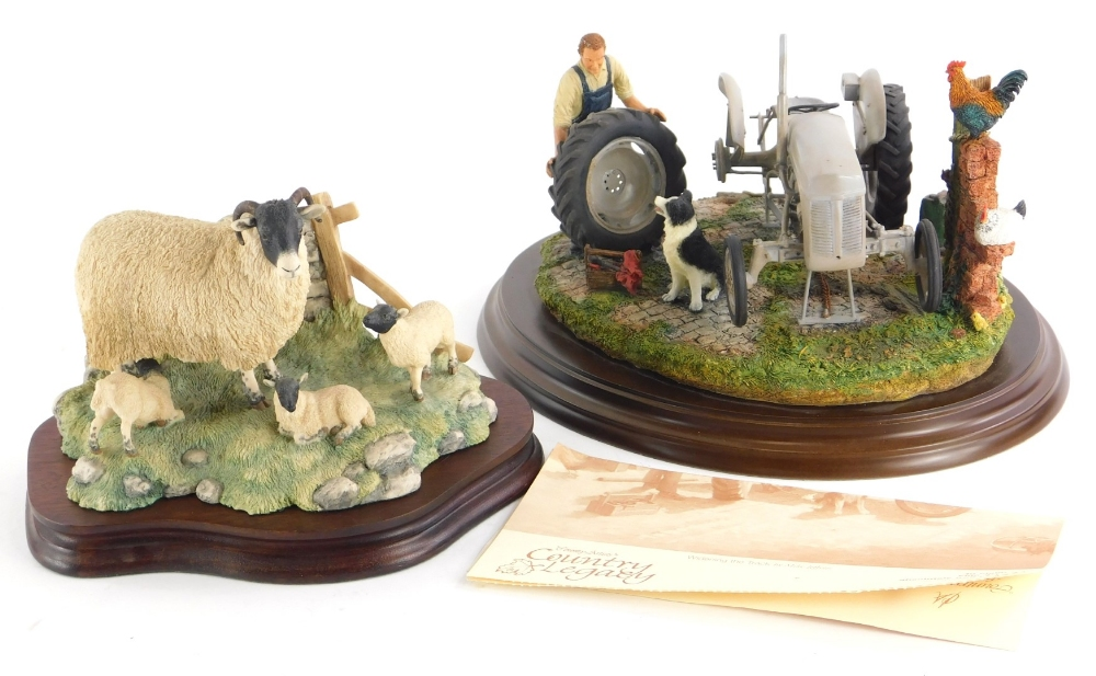 A Border Fine Arts figure group of sheep and lambs, and a Country Artist figure group, titled