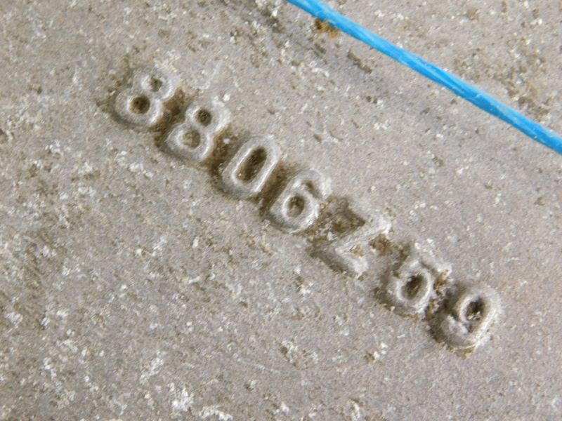 A cast aluminium plaque for Albion, possibly from a vintage car or truck, 78cm wide. - Image 2 of 2