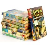 Various volumes of Biggles, to include some first editions, Air Detective, Flies to work, Flies