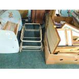 Various LP records, picture frames, cassettes, child's baby cot, pram frame etc. (a quantity)