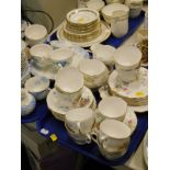 Various part tea wares, to include Queen Anne Old Country Spray pattern, Adderley, various tankards,