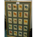 Kensitas Cigarettes British Empire flags silks, framed and glazed, 51cm x 31.5cm.