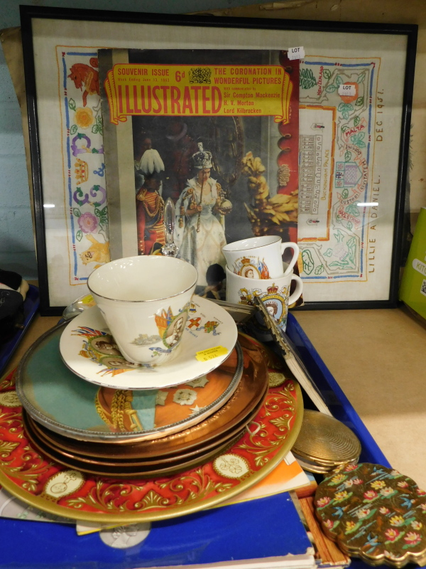 A collection of Royal related memorabilia, to include a King George V and Queen Mary teacup and