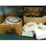 General household effects, to include glassware, pottery, stainless steel jugs, etc., (2 boxes and