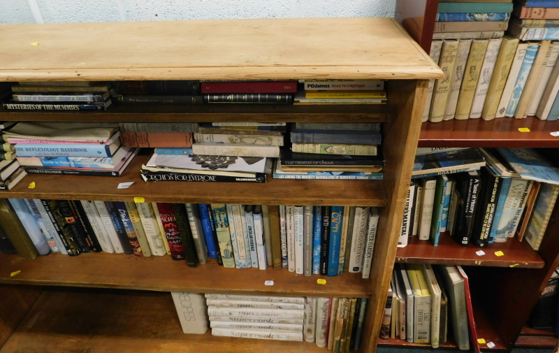 Various books, fiction, non fiction, to include James (PD), Medical and Health Encyclopedias,