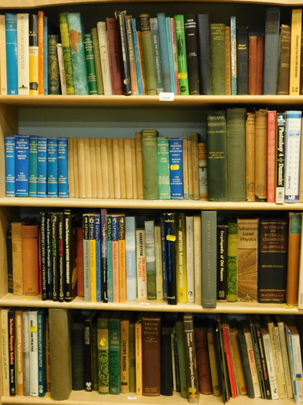 Various books, predominately non-fiction, to include Biology for Everyman, various editions of LP