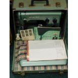 A Viking Husqvarana automatic 21a cased sewing machine.