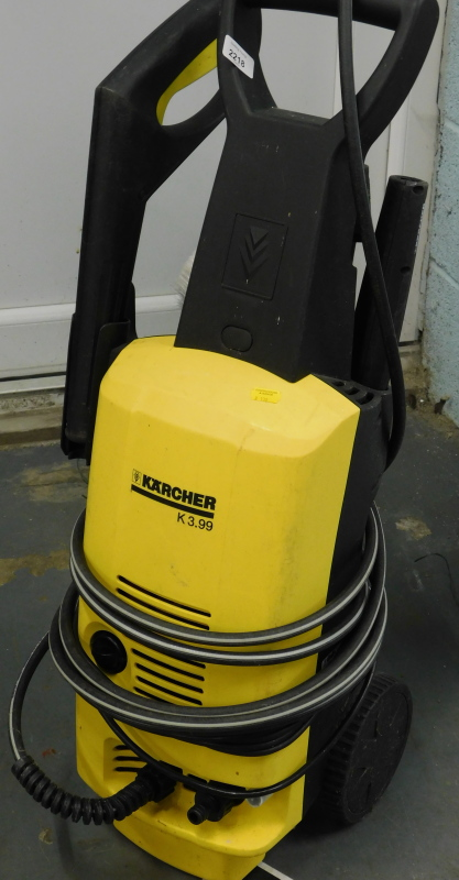 A Karcher K3.99 pressure washer.