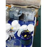 A quantity of Light and Music Michelangelo wine glasses, a tobacco jar, in Royal Doulton style (AF),