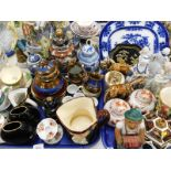 Decorative china and effects, to include a Royal Doulton Old Charley character jug, copper lustre