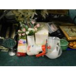 General household effects, to include CD rack, cushion, various mirrors, artificial flowers,