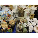 General household effects, to include various wash jugs, part teawares, various bisque figures,