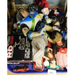 A quantity of children's toys, to include die cast cars, Buzz Lightyear figure, dolls, R D Spinnit