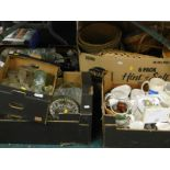 General household effects, to include wicker baskets, mugs, glass bottles, glassware, mixing
