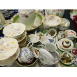 Decorative china and effects, to include wash jug and bowl, a quantity of S.F. and Co Dresden