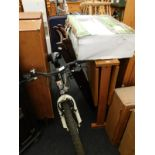 A child's Woodland Charm bicycle, a single Burnett gas BBQ, boxed, garden chairs, etc. (a quantity)