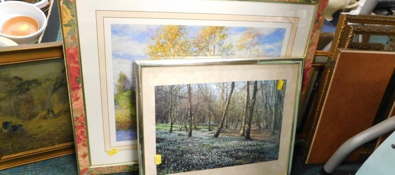 Various pictures, prints, mirrors, etc. (a quantity)