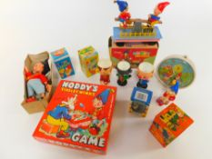 A collection of Noddy toys and collectibles, to include Smiths Noddy alarm clock., Linda Noddy and