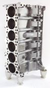 A BMW M52 standard engine cylinder block, 1748450, converted to a wine rack, 65cm high.