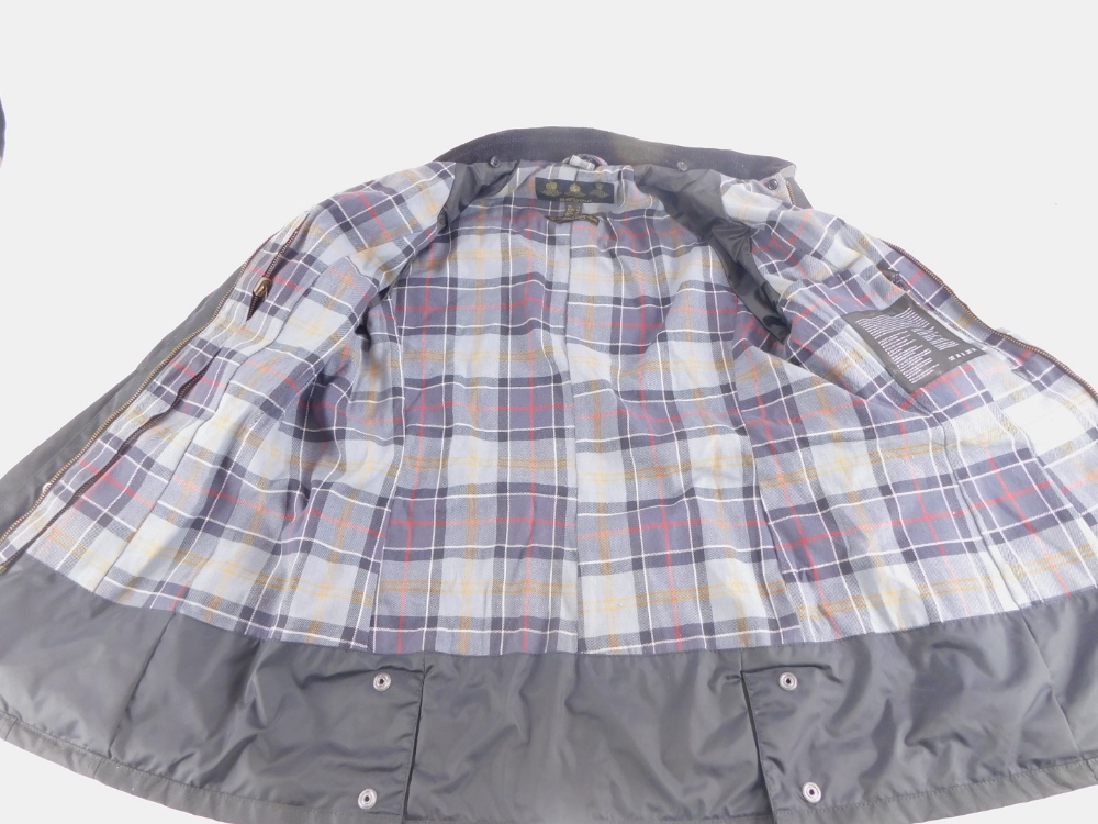 A ladies Barbour black wax jacket, size 14. - Image 3 of 3