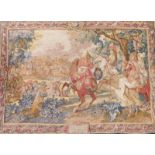 A Flemish style tapestry, of the Flanders Campaign, 247cm x 178cm.