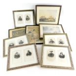 A quantity of pictures and prints, to include a set of engravings detailing people from history in p