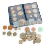 A quantity of New Zealand coins, to include 1962, 64, 65, 69 coin sets, and other coins to include f