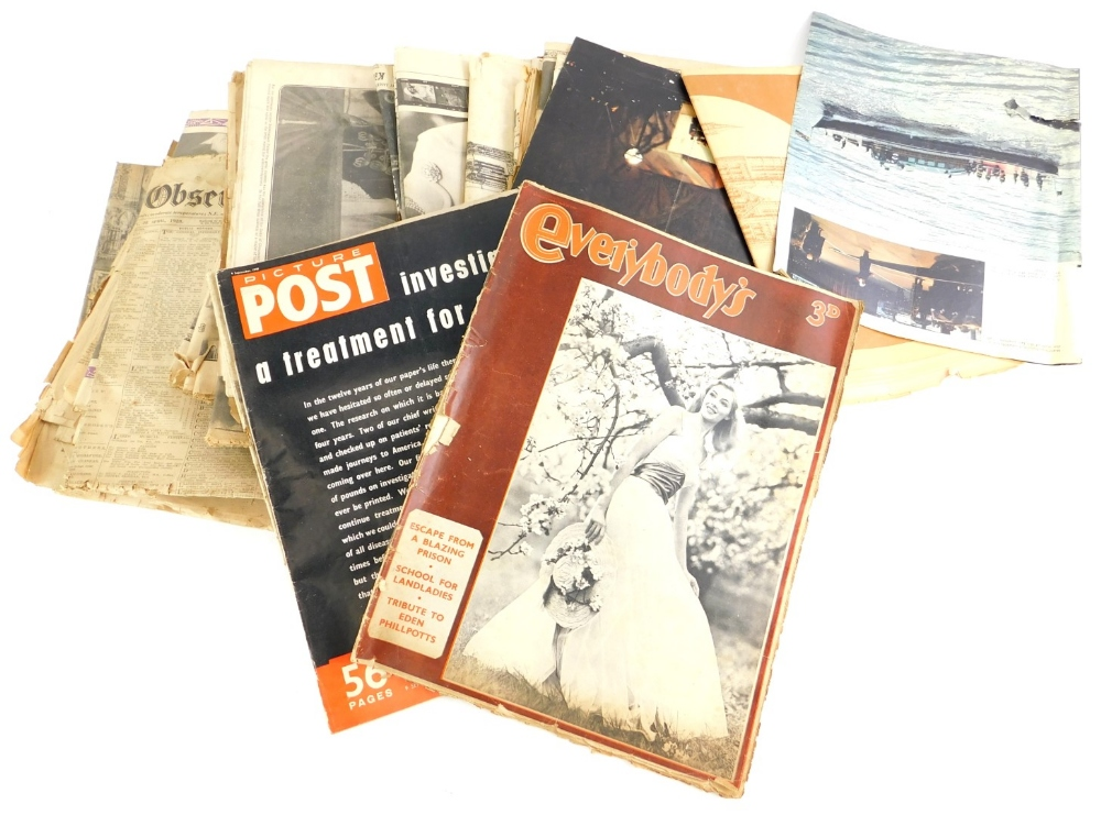 A collection of magazines, to include Everybody's, Picture Post, The Lincolnshire Chronicle, various