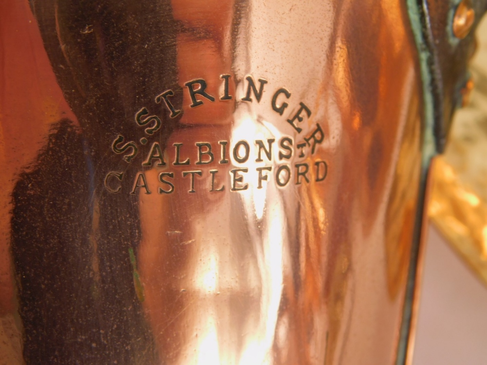 A collection of copper and brass, to include a Benham & Froud Arts and Crafts kettle, copper kettle, - Image 2 of 3