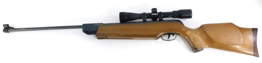 An ASI Magnum Super Fire Power air rifle, with Fontaine sight.
