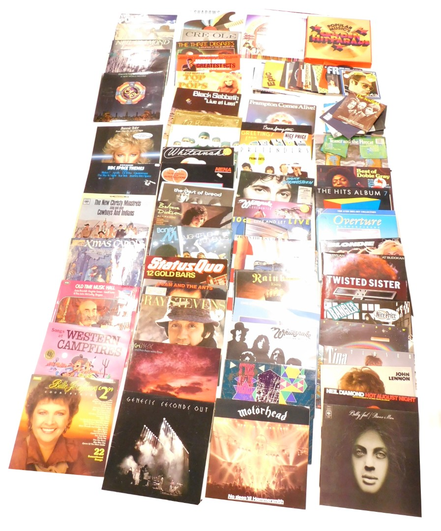 A quantity of LP and 45 records, albums to include Siouxsie & The Banshees, 10CC, Motorhead, Whitesn