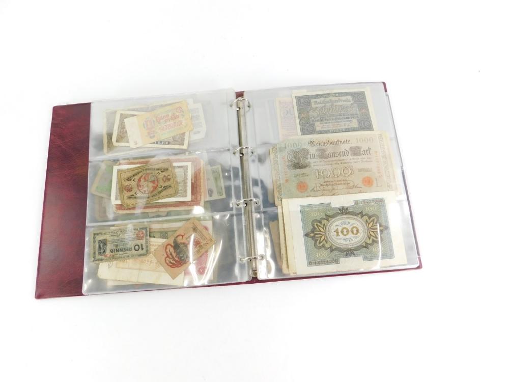 Approximately one hundred world banknotes. - Image 2 of 3