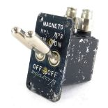 A Lancaster Bomber Magneto engine starter switch, marked NO 1 and NO 2 on-off.